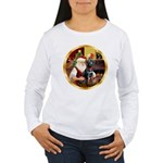 Santa's Lab (blk)#1 Women's Long Sleeve T-Shirt