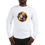 Santa's Lab (blk)#1 Long Sleeve T-Shirt
