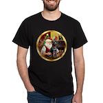 Santa's Lab (blk)#1 Dark T-Shirt