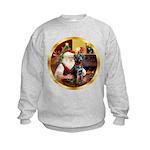 Santa's Lab (blk)#1 Kids Sweatshirt