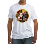 Santa's Lab (blk)#1 Fitted T-Shirt