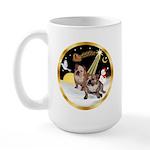 Night Flight/2 Eng Bulldogs Large Mug