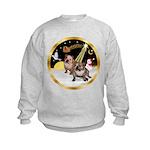 Night Flight/2 Eng Bulldogs Kids Sweatshirt