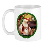 Santa's Pomeranian #1 Mug