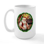 Santa's Pomeranian #1 Large Mug