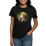 Santa's Pomeranian #1 Women's Dark T-Shirt