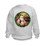 Santa's Pomeranian #1 Kids Sweatshirt