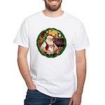 Santa's Pomeranian #1 White T-Shirt