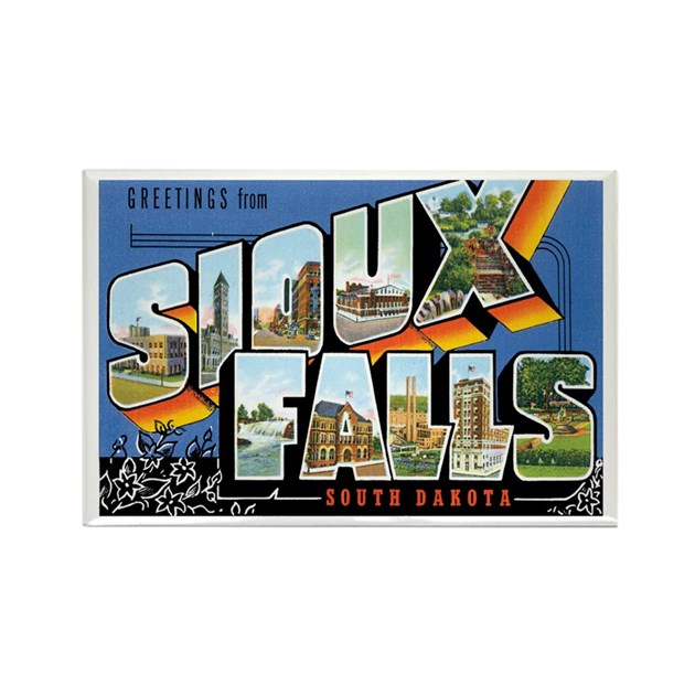 Sioux Falls SD Rectangle Magnet By Caferetro