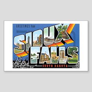 Sioux falls SD Rectangle Sticker
