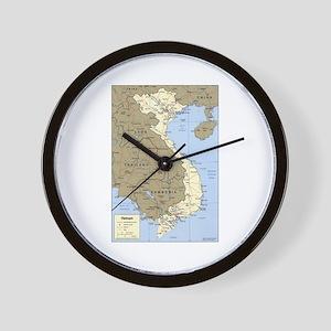 Vietnam Asia Map Wall Clock