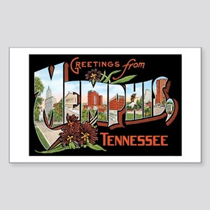 Memphis TN Rectangle Sticker