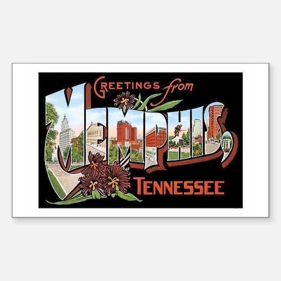 Memphis TN Rectangle Decal