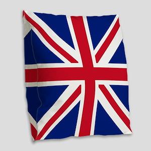 Flag: United Kingdom Burlap Throw Pillow
