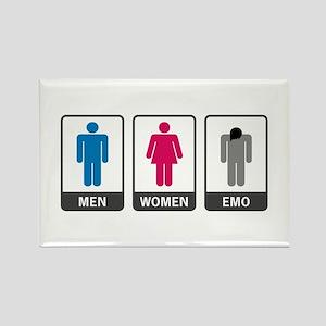 'Men-Women-Emo' Rectangle Magnet