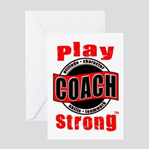 Play Strong/Thanks Coach! Greeting Card