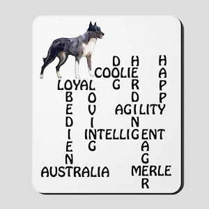 coolie crossword Mousepad