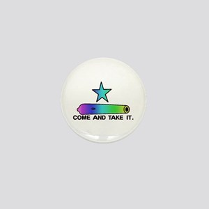 Gay Pride Gonzales Flag Mini Button