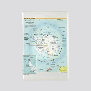 Antarctic Antarctica Map Rectangle Magnet