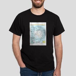 Antarctic Antarctica Map Dark T-Shirt