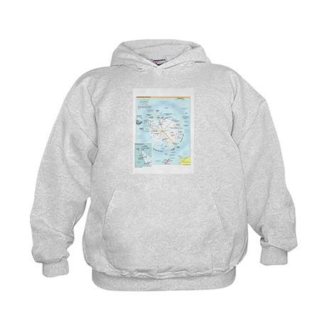 Antarctic Antarctica Map Kids Hoodie