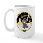 Night Flight/Silver Poodle Large Mug