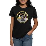 Night Flight/Silver Poodle Women's Dark T-Shirt
