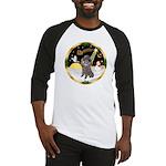 Night Flight/Silver Poodle Baseball Jersey