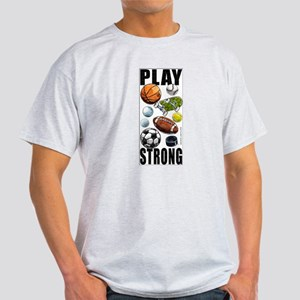 All Sports Play Strong Ash Grey T-Shirt