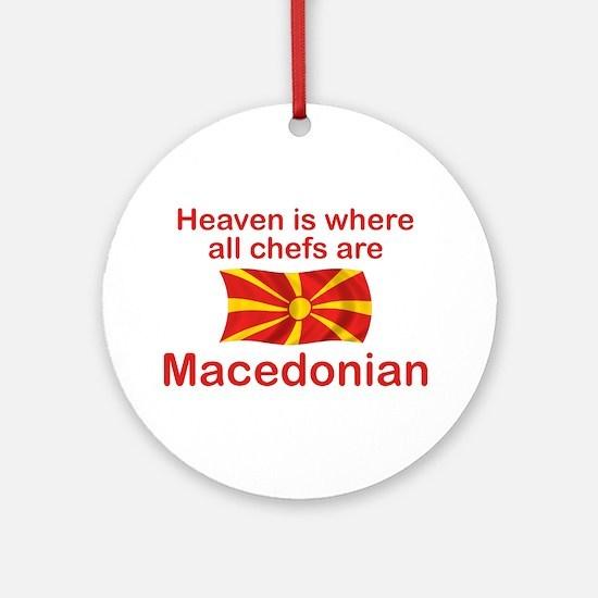 Macedonian Chefs Ornament (Round)