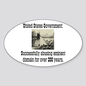EMINENT DOMAIN ABUSE Oval Sticker
