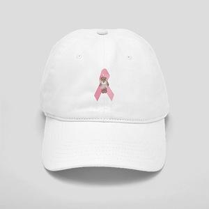 Breast Cancer Ribbon & Ballerina Bear Cap