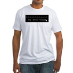 Black Anti-drug Blank Fitted T-Shirt