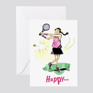Sports greeting cards cafepress tennis birthday pack of 6 m4hsunfo Choice Image