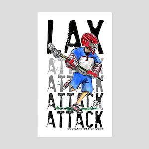 Lax Attack Rectangle Sticker