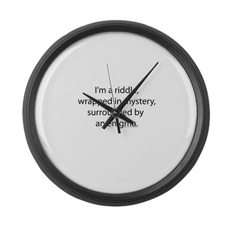 I'm a Riddle Large Wall Clock