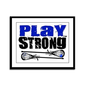 Play Strong LAX Framed Panel Print