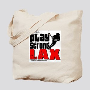 Play Strong Lacrosse Tote Bag