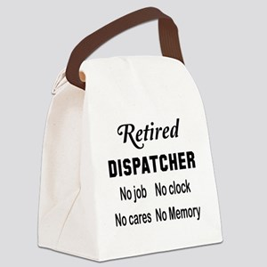 Retired Dispatcher Canvas Lunch Bag