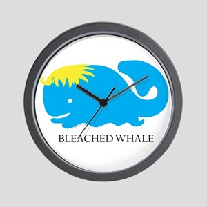 Bleached Whale Wall Clock