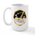 Night Flight/Pekingese Large Mug