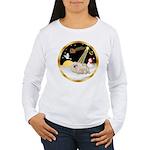 Night Flight/Pekingese Women's Long Sleeve T-Shirt