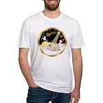 Night Flight/Pekingese Fitted T-Shirt