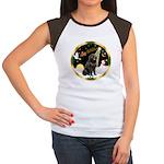 Night Flight/Newfie #2 Women's Cap Sleeve T-Shirt