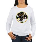 Night Flight/Newfie #2 Women's Long Sleeve T-Shirt