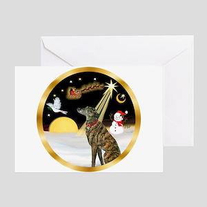 Night Flight/Greyhound (brin) Greeting Card