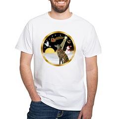 Night Flight/Greyhound (brin) White T-Shirt