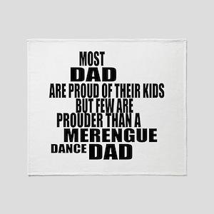 Merengue Dance Dad Throw Blanket
