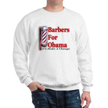 Barbers For Obama Sweatshirt