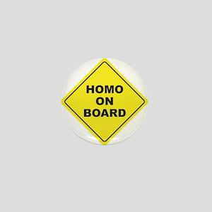 Homo on Board Mini Button